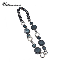 Steampunk Rhinestone Necklaces Pendants Vintage Long Maxi Necklace Jewelry Women Boho Choker Collares Etnicos Chain Collier