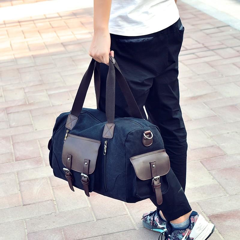 men canvas handbag