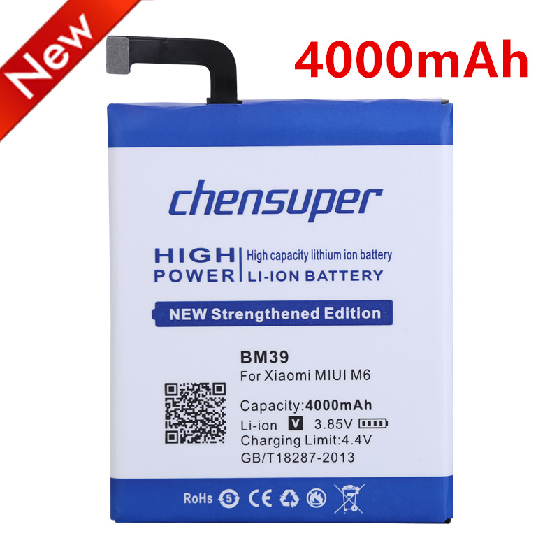 Nuovo BM39 4000 mah Batteria per Xiaomi MIUI M6 Mi 6 Mi6 Batterie spedizione gratuita entro il numero di inseguimento