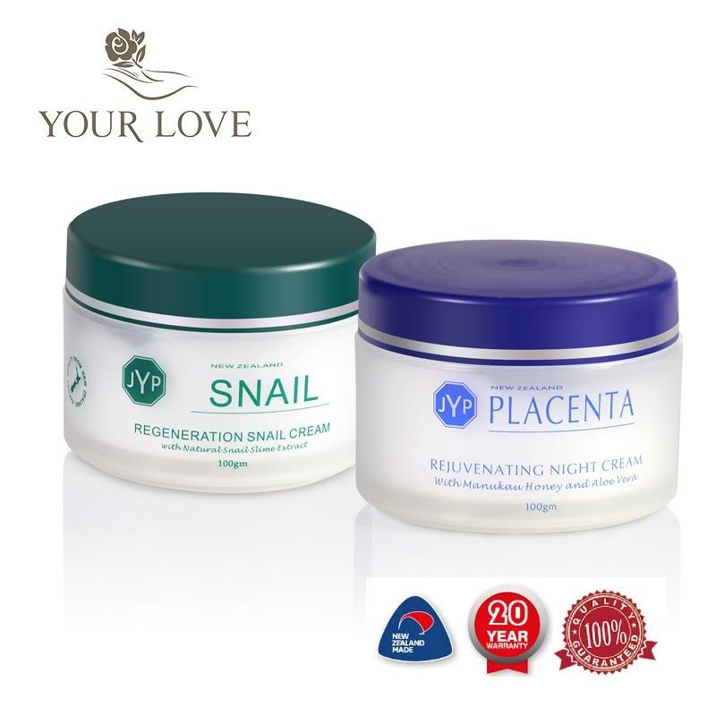 100%NewZealand Regeneration Snail Day Cream+Sheep Placenta Night Cream Anti Wrinkle Face Cream Sets Moisturizing Whitening Cream