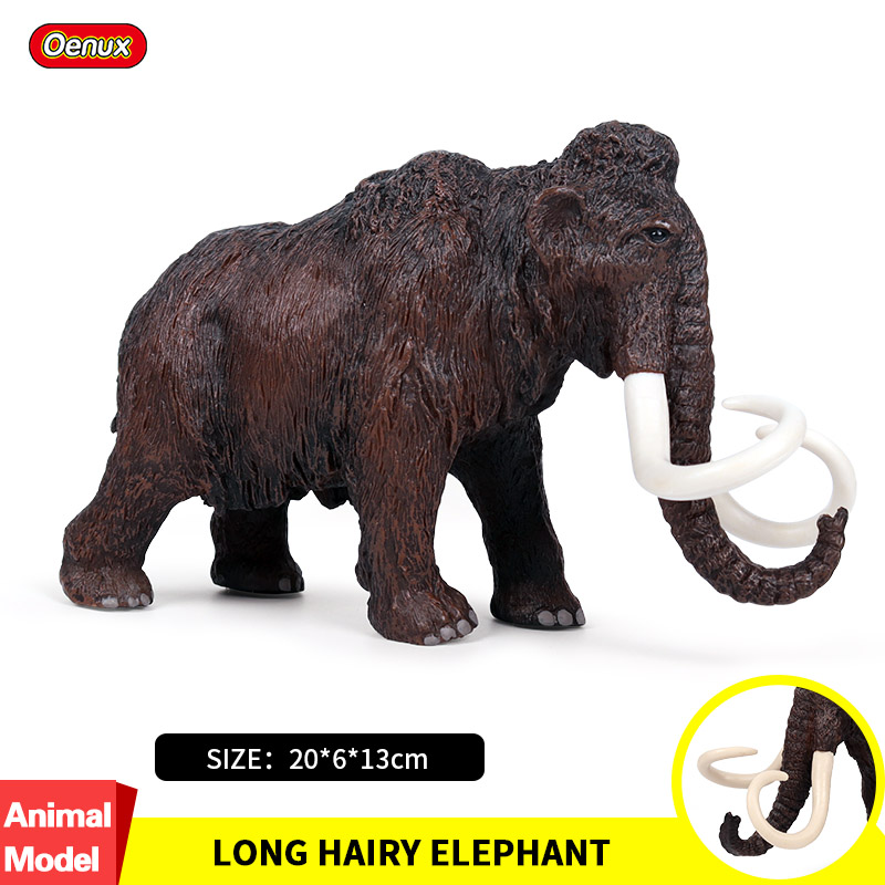 Oenux Original Wild Big Mammoth Elephant Simulation Animals Mammut Action Figures Model Figurine PVC Collection Toys Kids Gift
