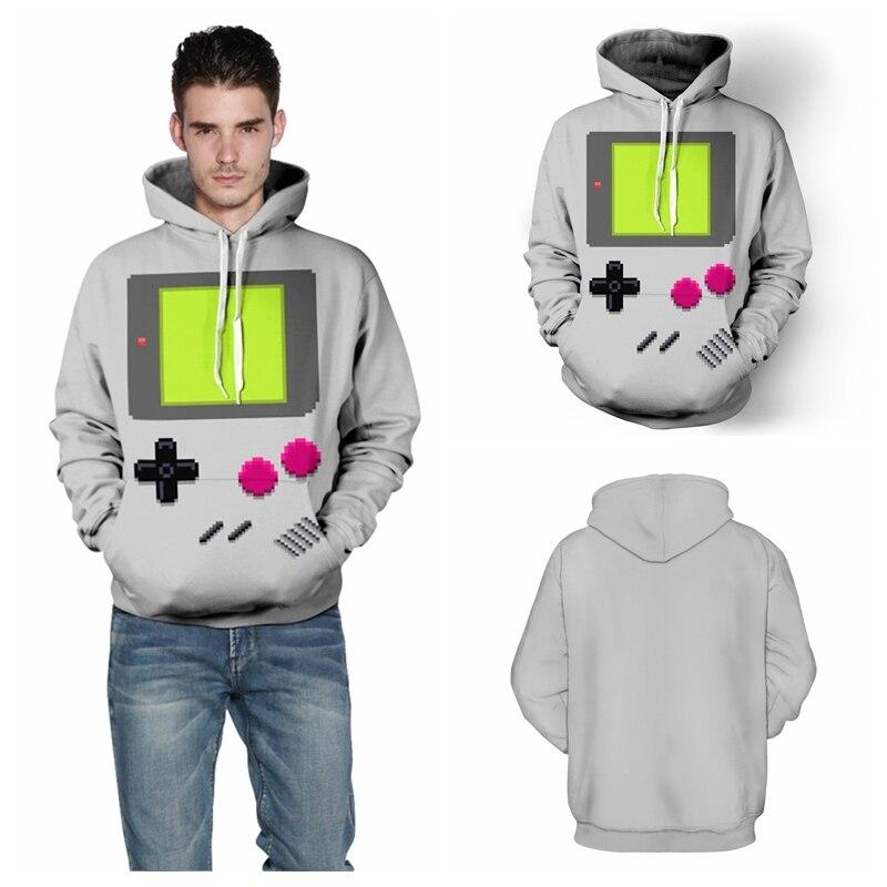 PACMAN Games Sweatshirt Men Skateboarding Hoodies Sport Hip Hop Streetwear Tracksuit Hooded Pullover Outerwear Jackets FTQYDM