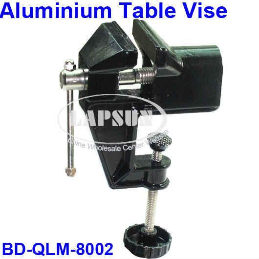 Черный Регулируемый сплав алюминиевый Настольный стенд тиски зажим держатель гаджет DIY Рабочий набор инструментов