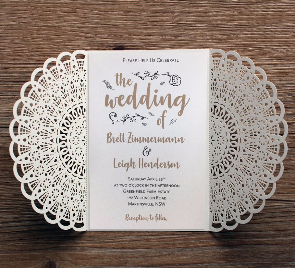 Aliexpress.com : Buy White Laser Cut Wedding Invitations