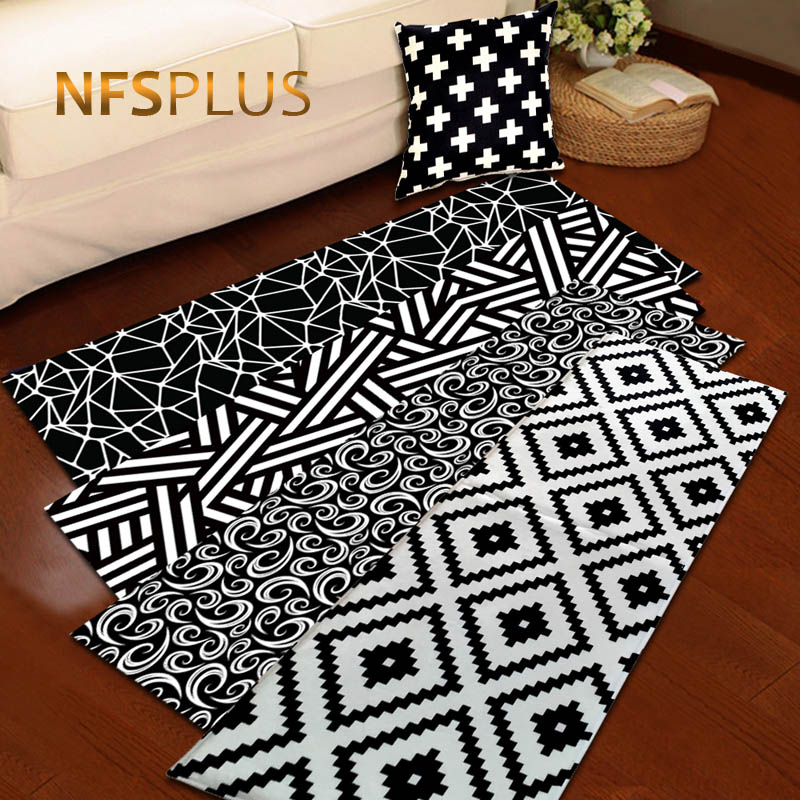 Decorative Throw Rugs: Geometric Floor Mat Carpet Kitchen Bathroom Anti Slip Area