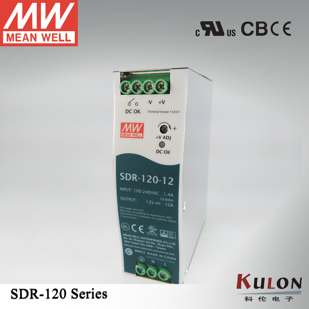 120W 24V 5A Meanwell SDR-120-24 Single Output Industrial DIN Rail Power Supply with PFC slim single phase минипечь gefest пгэ 120 пгэ 120