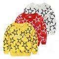 Meninos roupas de bebê criança estrela de cinco pontas-camisola roupas primavera outono das crianças criança top pullover crianças outerwear Hoodies