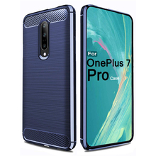 Mnycxen Silicone Case For OnePlus 7 Pro Covers Coque For One Plus 7Pro Pro7 Cover Protection Fundas Fiber Carbon oneplus7pro