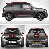 Car Hood+Trunk+Side Door Stripes Exterior Decals Stickers For Mini Cooper S Countryman R60 Decoration Car Styling Accessories