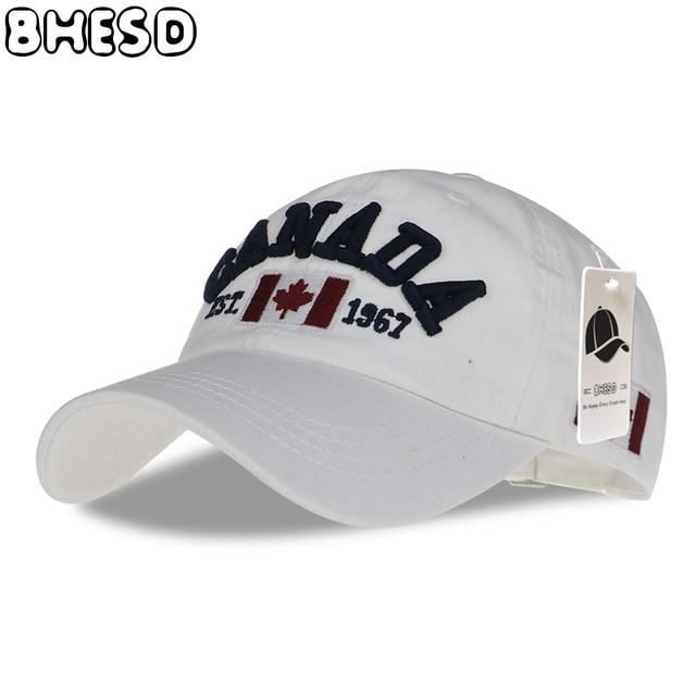 ddea08e51829 BHESD 2017 Canada Snapback Hat Men White Flag Embroidery Baseball Cap Women  Canada Dad Hat Summer Casquette Gorros Bone JY-344