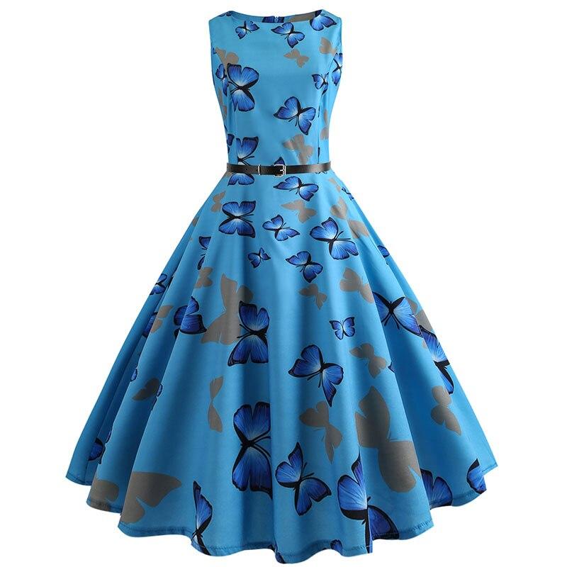 Blue Vintage Swing Dress 55