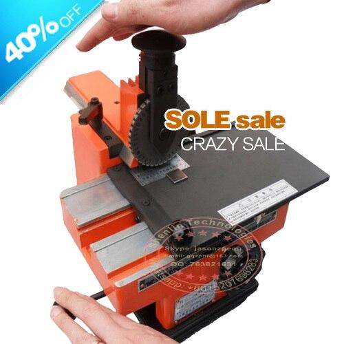 Metal sheet embosser, manual steel embossing machine, aluminum alloy name plate stamping machine, label engrave tool, SL 360