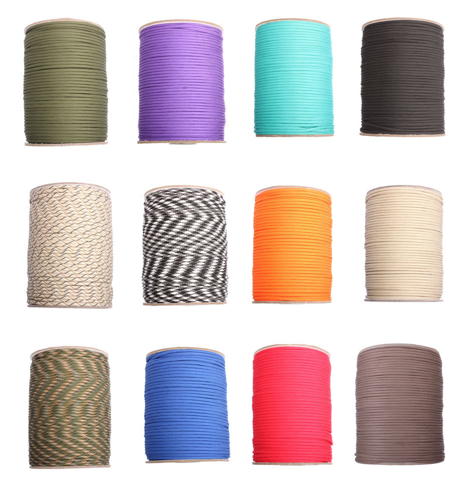 100meters Paracord 550 Paracord Parachute Cord Lanyard Rope Mil Spec Type III 7Strand 328FT Climbing Camping survival equipment