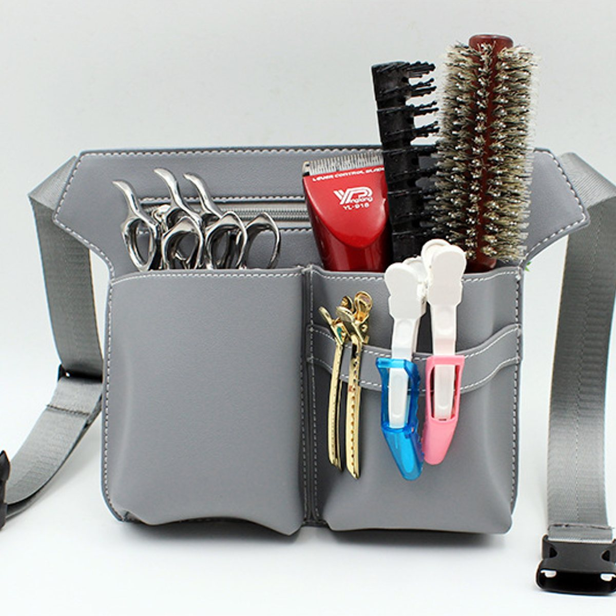 AEQUEEN Profession Salon Hair Scissor Bag Big Storage Space Hair Comb Shear Pouch Holder Case Belt Barber Hairdressing Tool Bag