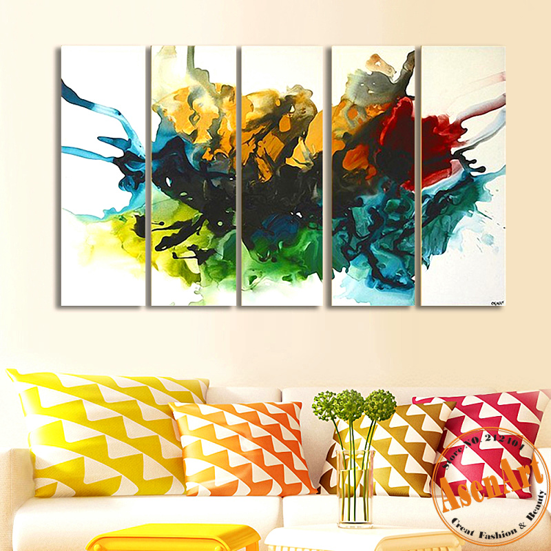 Grote abstracte schilderijen koop goedkope grote abstracte schilderijen loten van chinese grote - Schilderen gemengde kamer ...