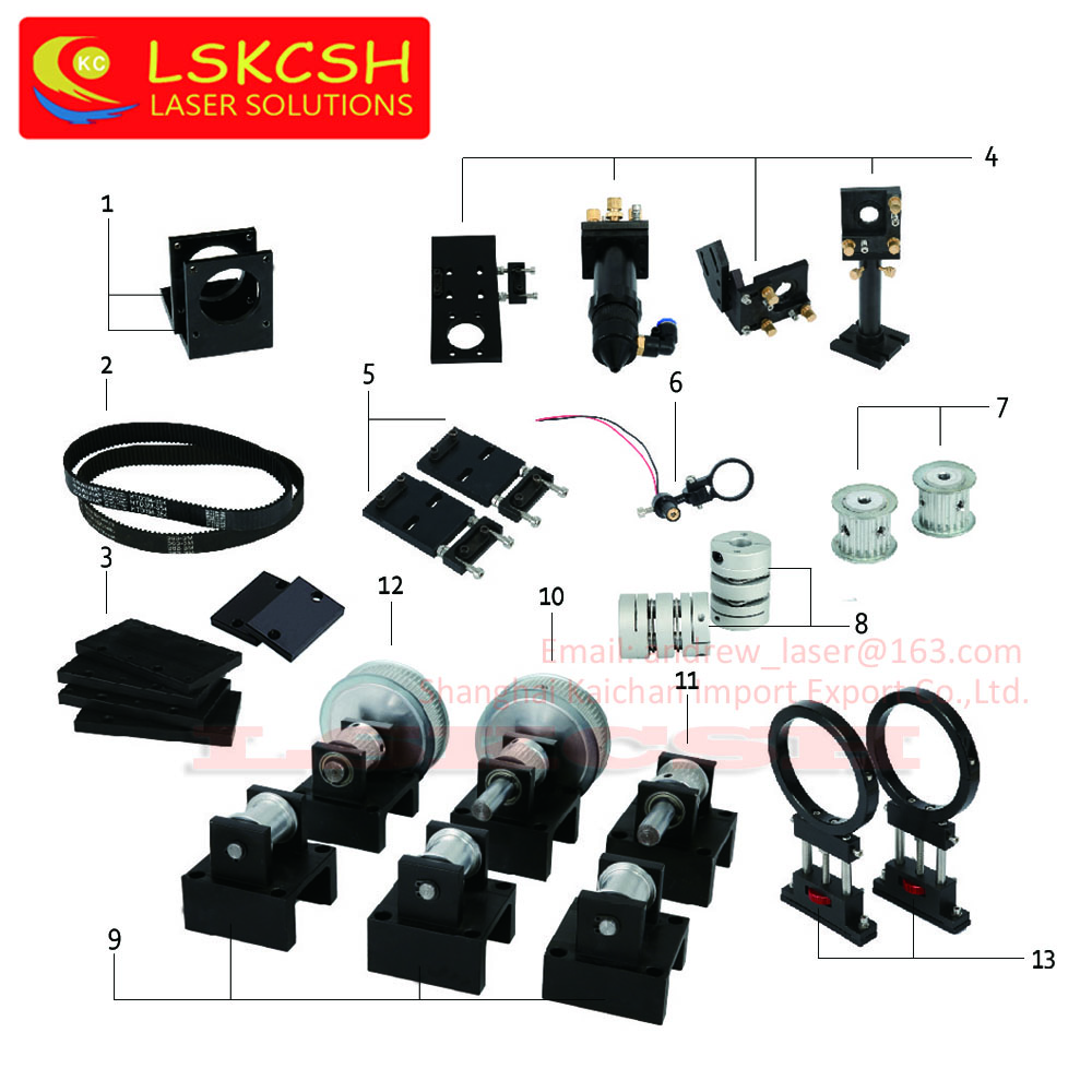 LSKCSH CO2 Laser Metal Parts Transmission Laser head Mechanical Components for DIY CO2 Laser Engraving Cutting Machine Wholesale co2 laser head set co2 laser metal parts co2 laser path use for laser cutting and engraving machine