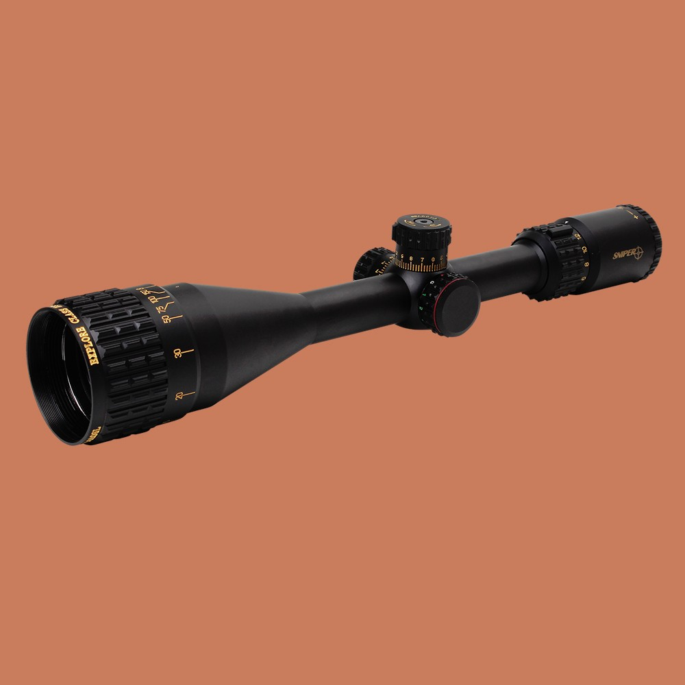 Hunting Tactical Optical Sight SNIPER NT 6-24X50 AOGL Full Size Glass Etched Reticle RGB llluminate Rifle Scope 5