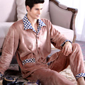 Men's autumn and winter pajamas coral velvet pajamas male fertilizer to increase code thick flannel suit tracksuit