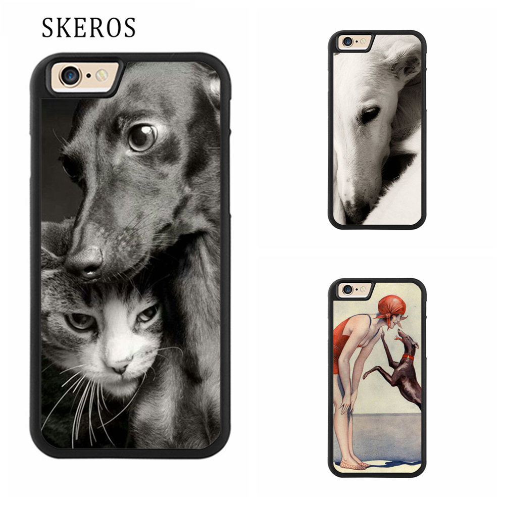 SKEROS galgo greyhound dog Full Protective cover phone case for iphone X 4 4s 5 5s 6 6s 7 8 6 plus 6s plus 7 plus 8 plus #qq149