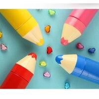 Copo De Vácuo Do Aço inoxidável Forma do Copo do Lápis Colorido Garrafa Térmica Portáteis Copo 260 ml Amarelo Vermelho Azul e Rosa LA7