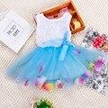 2017 vestidos de festa de bebê recém-nascido pétala meninas flower princess dress crianças tutu wedding dress 1 anos primeiro aniversário do bebê batismo