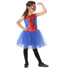 Halloween children Spider Costume Girls Cosplay Animation Play Clothing GIRL DRESS EK210