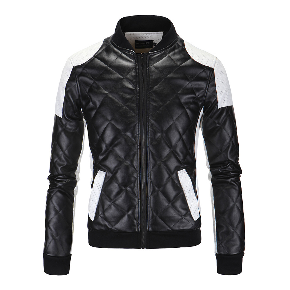 HEROBIKER Winter Riding Motorcycle Jackets Men PU Leather Jacket Punk Slim Windproof Biker Faux Leather Moto Jacket Size M-5XL
