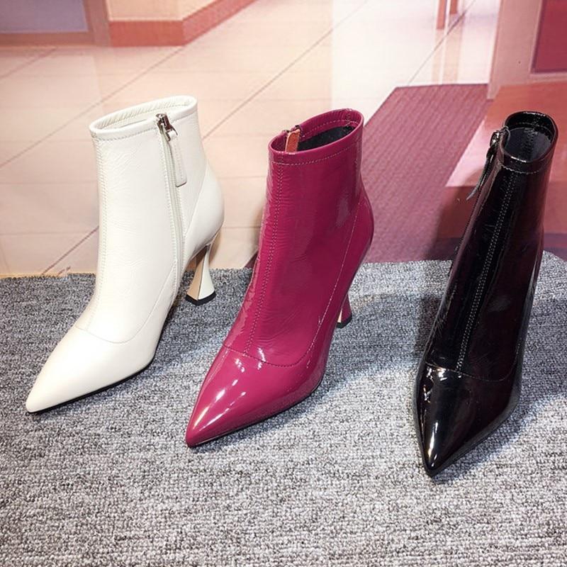 Spool High Heels Zipper Ankle Boots Women Sexy Solid Zapatos De Mujer Pointy Toe Party Dress Motorcycle Brand Botas Stiletto New женский комбинезон brand new 2015 monos largos de mujer 140409