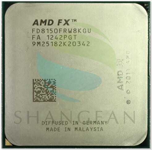 AMD FX-Series FX-8150 FX 8150 3.6Ghz Eight-Core CPU Processor FX8150 FD8150FRW8KGU Socket AM3+
