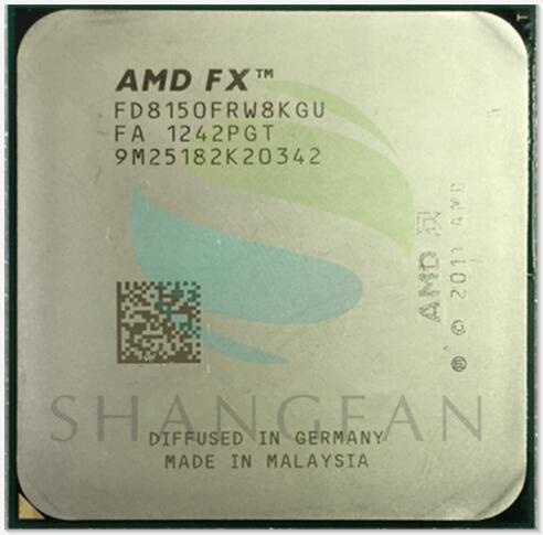 AMD FX-Series FX-8150 FX 8150 3.6Ghz Eight-Core CPU Processor FX8150 FD8150FRW8KGU Socket AM3+