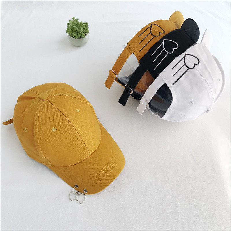 Summer Fashion Embroidery letter heart ring cap Adjustable Hip Hop Snapback  Baseball Caps Men Women Fitted Trucker Hat hot summer broken heart and letter embroidery sunscreen women s baseball hat