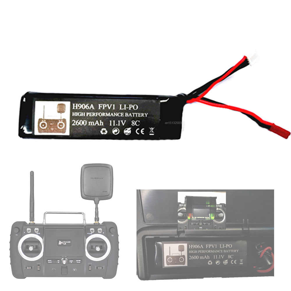 H501S émetteur 11.1V 2600mAh 3s batterie pour Hubsan X4 PRO H109S H502S H301S FPV1 télécommande H906A pièces de batterie