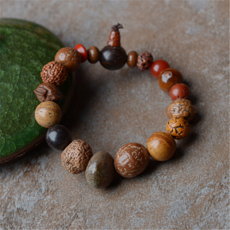 Original Design Male and Female Jewelry Eighteen Sons Bodhi Seed Bracelet Animal Year Transfer Luck Blessed Beads Hand String