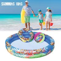 Summer inflatable family swimming pool inflatable swimming pool swimming beach ball three piece good quality