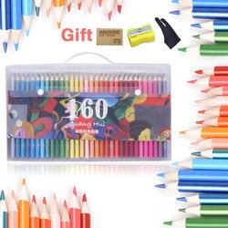 160 профессионалов Пастель карандаш безопасный нетоксичный цвет масла карандаши для рисования Lapis De Cor prisma цвет для рисования эскиз товары дл...