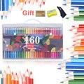 160 профессиональные пастельные карандаши безопасные нетоксичные масляные цветные карандаши для рисования Lapis De Cor prisma цветные для рисовани...