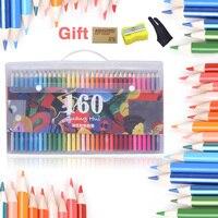 160 אנשי מקצוע פסטל עיפרון בטוח שאינו רעיל שמן צבע עפרונות אמן לפיס דה Cor prismacolor עבור ציור סקיצה אמנות ספקי