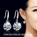 Sparkly!!! Classic 925 Top AAA Cubic Zirconia Eight Arrows Eight Heart Lady Hook Earring Wholesale