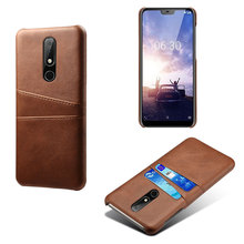 PU Leather Card Pocket Phone Case For Nokia 8.1Plus 6.1Plus 4.2 X71 X6 1Plus 2019 Classic Business Wallet Back Cover
