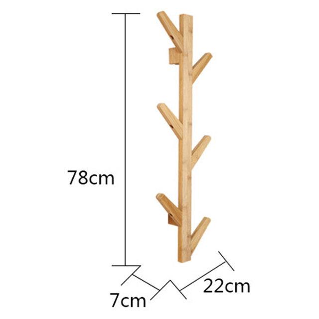 Bamboo Wooden Coat Rack