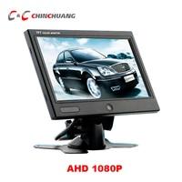 Super Slim AHD 1080P 7 inch Car Backup Reverse TFT LCD Digital Monitor Rear View Screen for Truck Bus RV Caravan Van Trailer