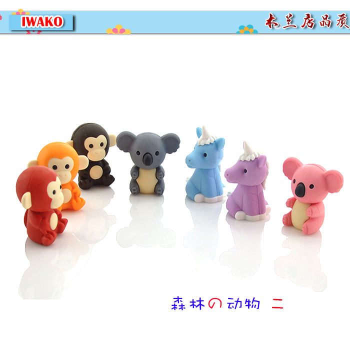 Iwako Animal Monkey Rubber Wild Animal Rubber 3d Style Rubber Child Gift