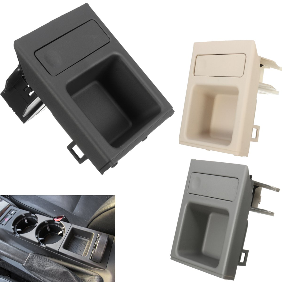 Car Vehicle Front Car Center Console Storage Box Coin Holder for BMW E46 3SERIES 51168217957 Black Beige Grey недорго, оригинальная цена