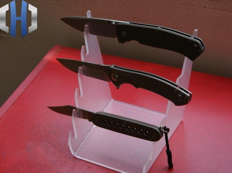 Купить с кэшбэком EDC Thickening Custom High-end Custom Tool Folding Knife Display Stand Knife Holder