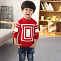 Outono e inverno grosso teste padrão geométrico camisola menino crianças camisola nova das crianças meninos de roupas de algodão crianças camisola
