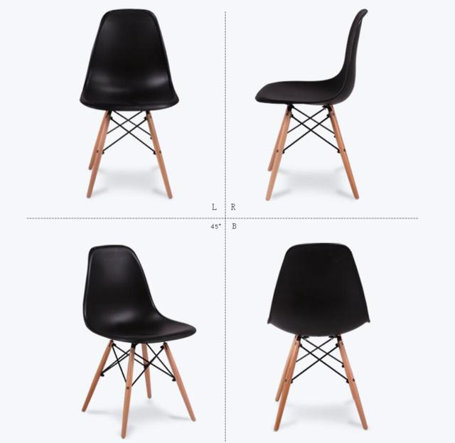 LANSKAYA 2 Pieces of Set Fashion Simple Plastic Creative Leisure Coffee Design Chair Stylish Dining Chairs Contemporary
