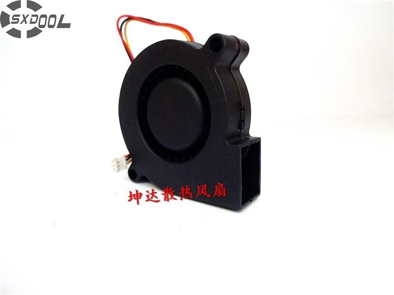 SXDOOL 5 CM 5015 5 V 0.35A B5015H05B-WFA 3 fil double roulement à billes turbo ventilateur ventilateur