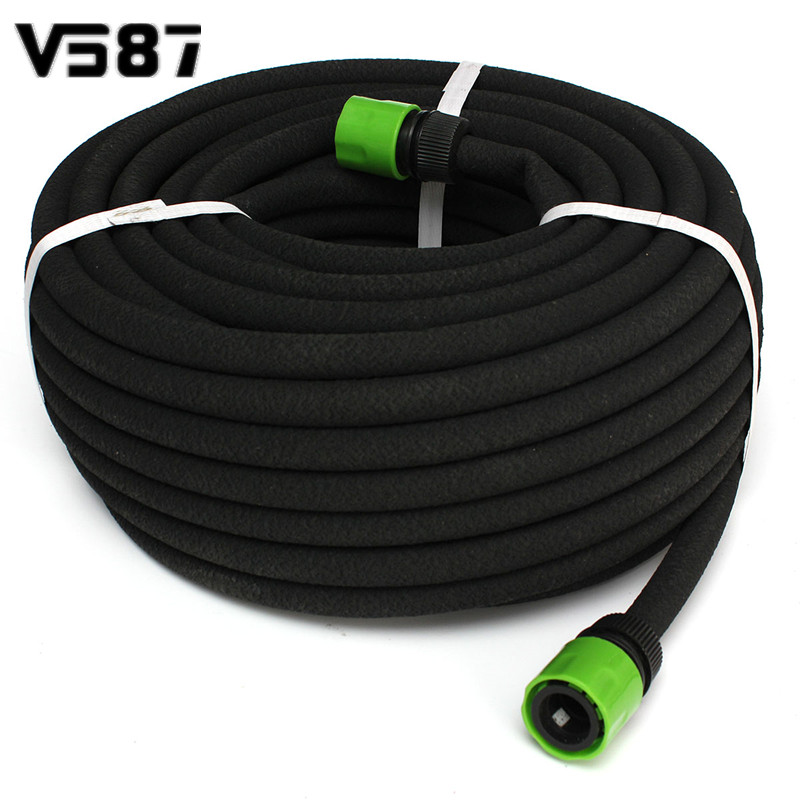 30M Black Porous Soaker Hose Watering Dripper Pipe With ...