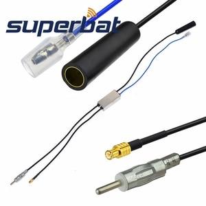 Image 2 - Superbat FM/AM FM/AM/DAB araba radyo anteni dönüştürücü/Splitter için MCX konektörü netlik CDAB7 AUTO