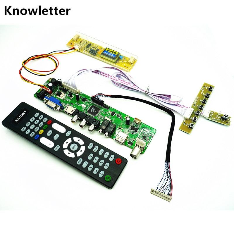 "TV+HDMI+VGA+AV+USB+AUDIO TV LCD driver board 15"" LM150X08 HSD150X17 HT150X02-100 M150XN07 1024*768 LCD controller board DIY kits"